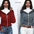 Jacket with a zipper and white sweater by Sims House