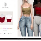 Slinky Ruched Side Crop Top by Bill Sims