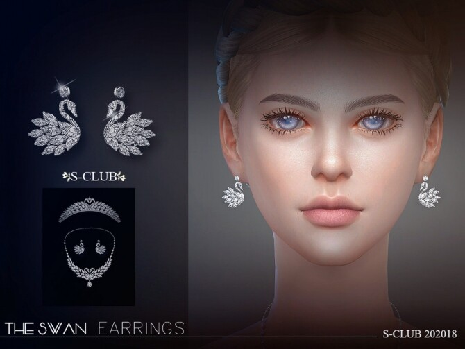 Sims 4 EARRINGS 202018 by S Club LL at TSR
