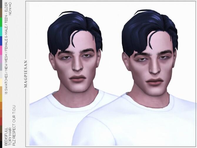 Sims 4 Tory hair by magpiesan at TSR