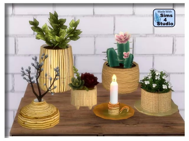 5 bamboo vases by Oldbox at All 4 Sims image 7219 Sims 4 Updates