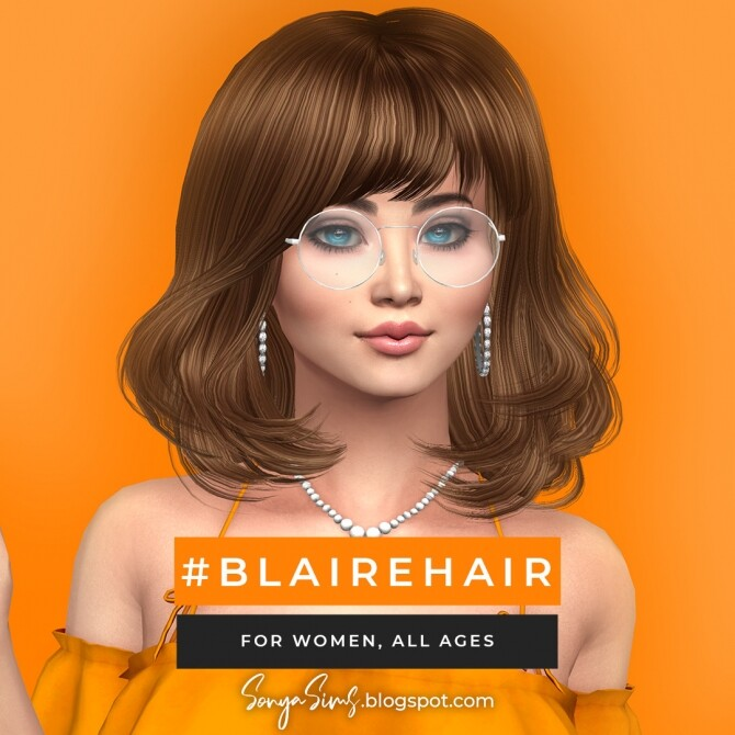 Blaire hair for all ages FREE + Anna hair at Sonya Sims image 7317 670x670 Sims 4 Updates