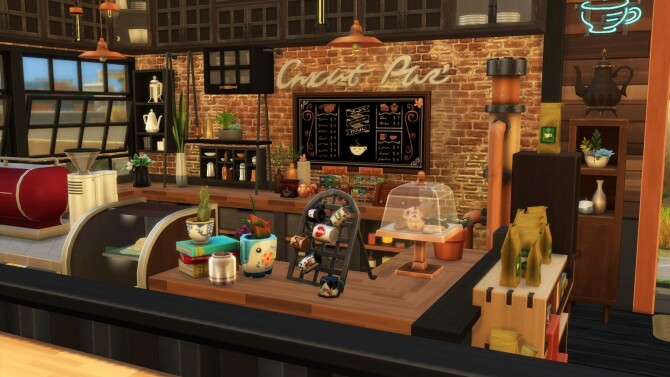 Sims 4 Industrial style food park by simbunnyRT at Mod The Sims