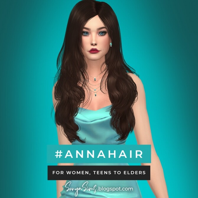 Blaire hair for all ages FREE + Anna hair at Sonya Sims image 7417 670x670 Sims 4 Updates