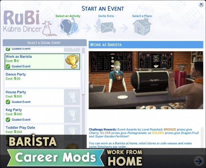 Barista Career Mods by rubi at Mod The Sims image 7511 670x547 Sims 4 Updates