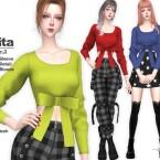 VITA Ver3 Bow Crop Top by Helsoseira
