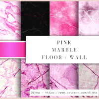 Matching Pink Marble Floor Wall