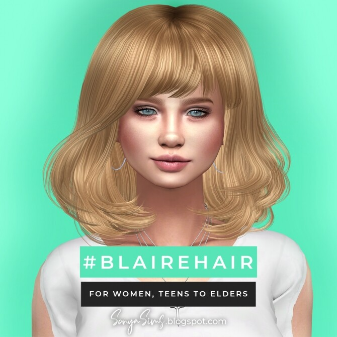 Blaire hair for all ages FREE + Anna hair at Sonya Sims image 7617 670x670 Sims 4 Updates