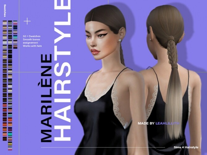 Marilene Hairstyle by Leah Lillith at TSR image 7620 670x503 Sims 4 Updates