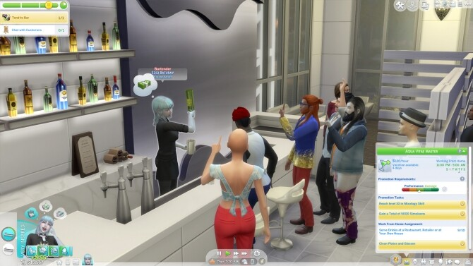 Sims 4 Barkeeper Career Mod by rubi at Mod The Sims