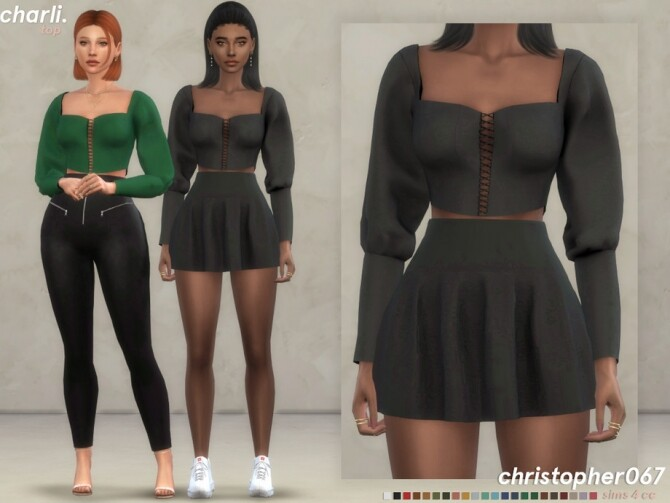 Charli Top by Christopher067 at TSR image 7712 670x503 Sims 4 Updates