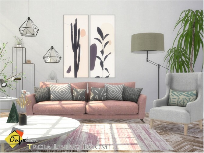 Troia Living Room by Onyxium at TSR image 7721 670x503 Sims 4 Updates
