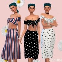 Midi skirt summer set by chrimsimy