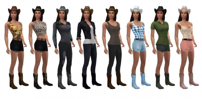 Sims 4 BG COWGIRL BOOTS at Sims4Sue