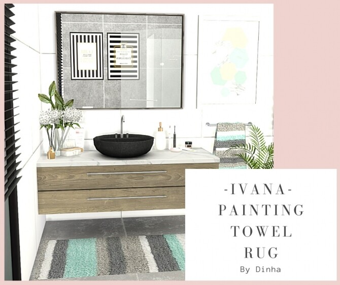 IVANA Collection: Painting, Rug & Towel at Dinha Gamer image 7817 670x562 Sims 4 Updates