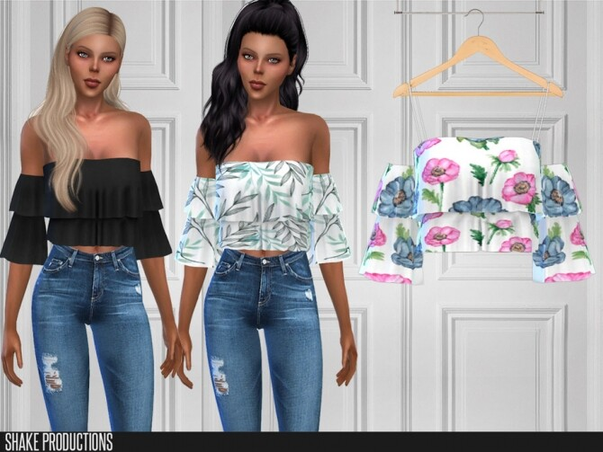 Sims 4 469 Blouse by ShakeProductions at TSR