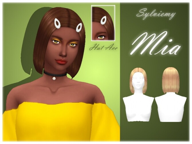 Sims 4 Mia Hair Set by Sylviemy at TSR