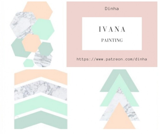 IVANA Collection: Painting, Rug & Towel at Dinha Gamer image 7916 670x562 Sims 4 Updates