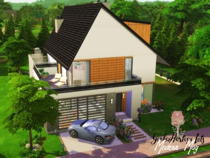 Sims 4 Modern May house by GenkaiHaretsu at TSR