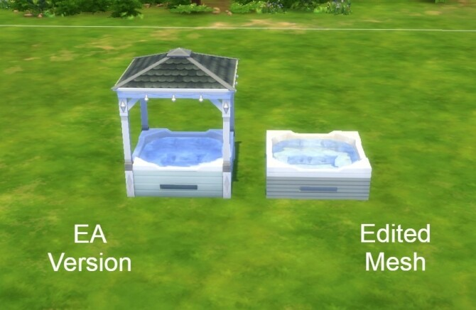 Sims 4 Modern Hot Tub by hellokittay at Mod The Sims