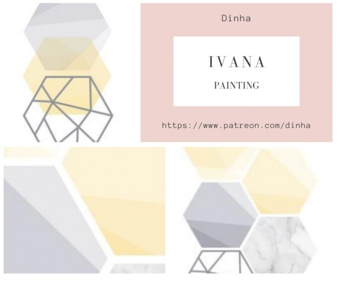 Sims 4 IVANA Collection: Painting, Rug & Towel at Dinha Gamer