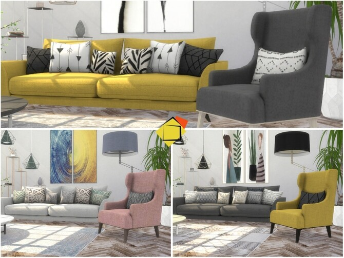 Troia Living Room by Onyxium at TSR image 8021 670x503 Sims 4 Updates