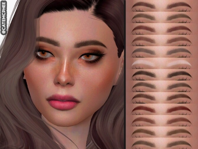 Sims 4 EB 02 Cassie Eyebrows by catemcphee at TSR