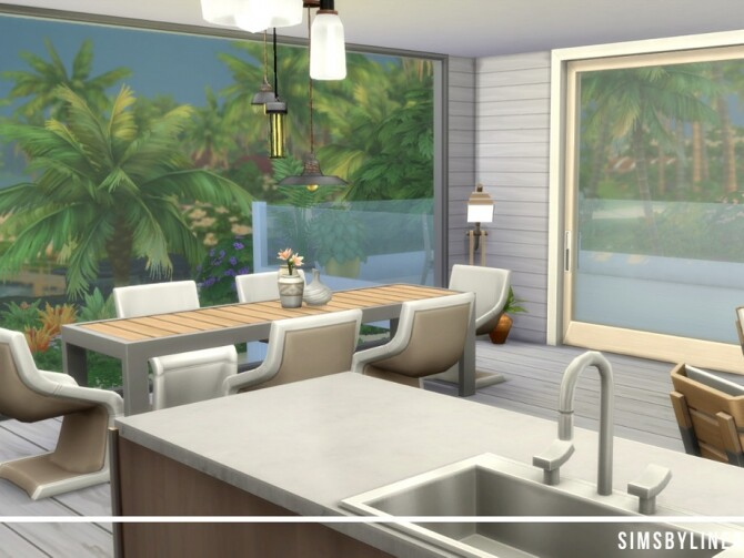 Sims 4 Modern Treehouse by SIMSBYLINEA at TSR