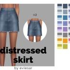 Distressed Denim Skirt by EvieSAR