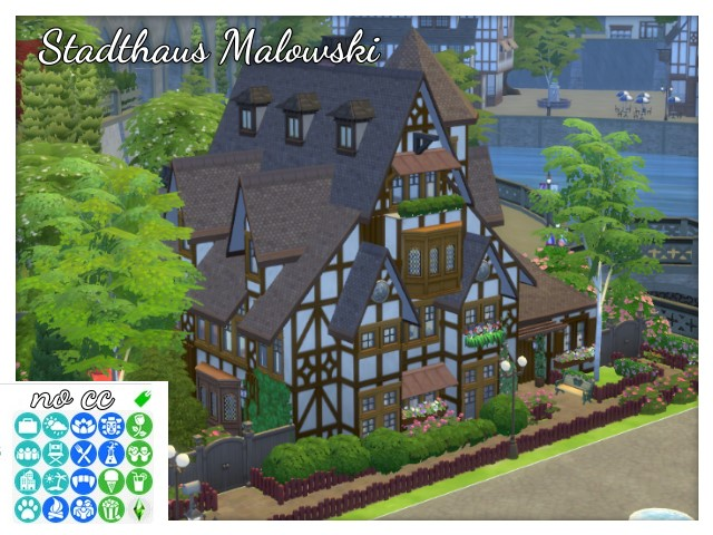 Sims 4 Malowski town house by Oldbox at All 4 Sims