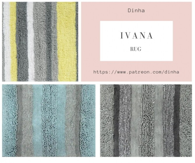 IVANA Collection: Painting, Rug & Towel at Dinha Gamer image 8121 670x562 Sims 4 Updates