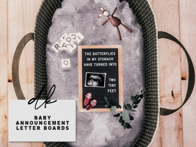 Baby Announcement Letter Boards