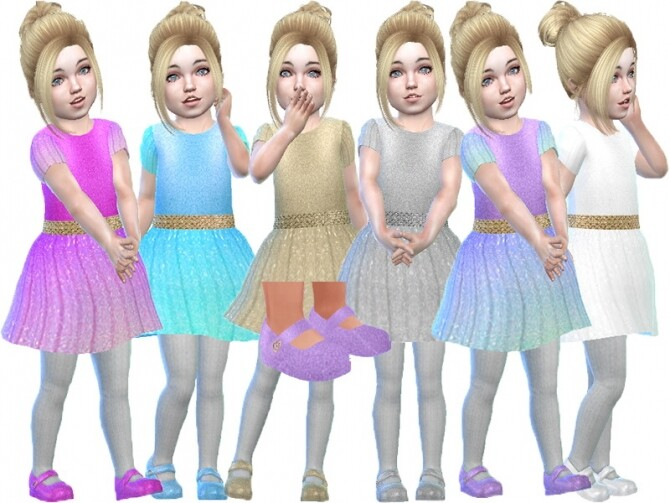 Sims 4 Glitter toddler shoes by TrudieOpp at TSR