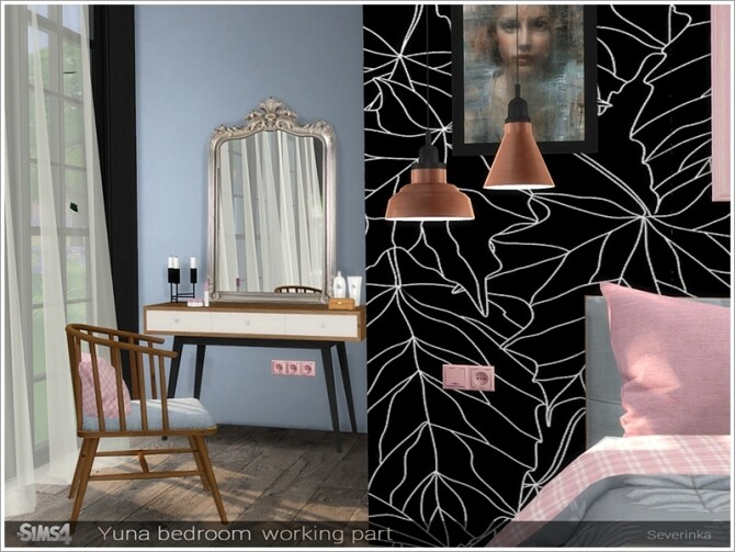 Sims 4 Yuna bedroom working part by Severinka at TSR