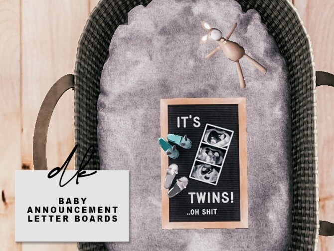 Sims 4 Baby Announcement Letter Boards at DK SIMS