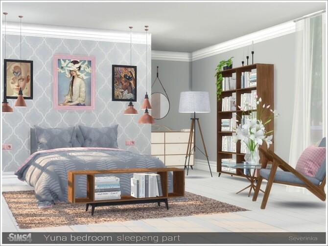 Sims 4 Yuna bedroom sleeping part by Severinka at TSR
