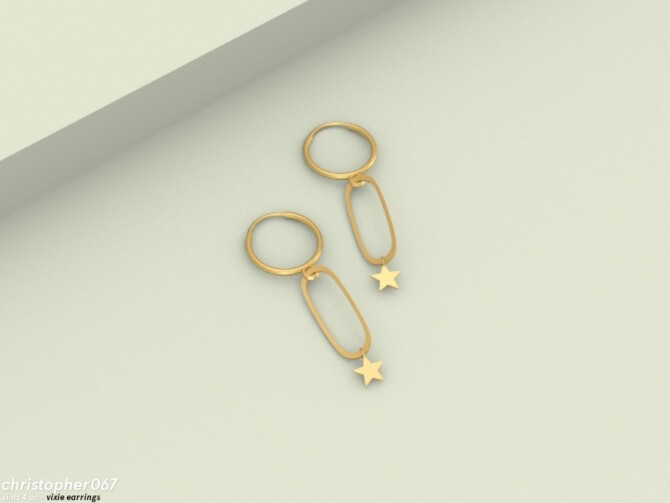 Sims 4 Vixie Earrings by Christopher067 at TSR
