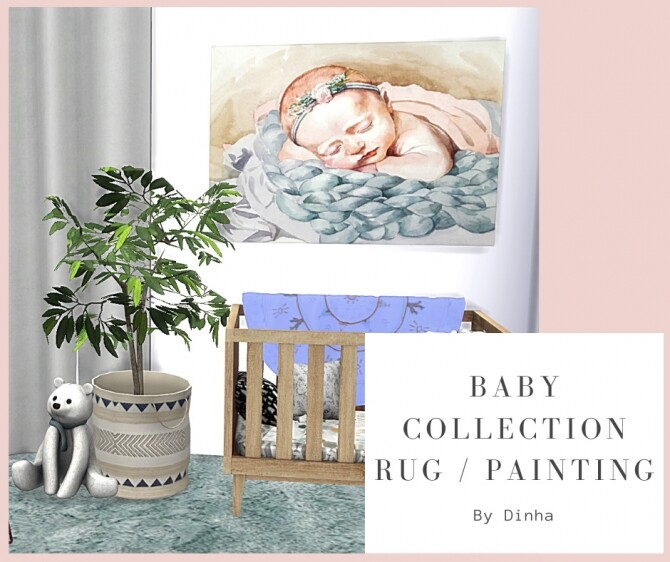 Sims 4 Baby Collection: Rug & painting at Dinha Gamer