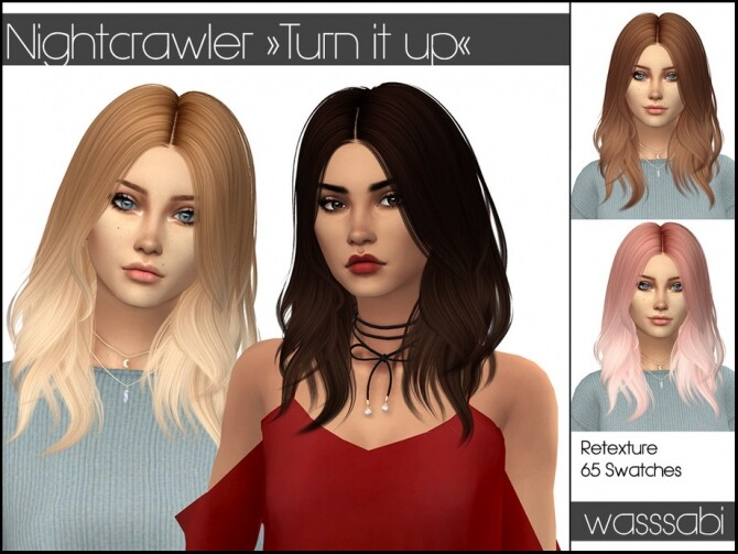 Hair Retexture Turn it up by wasssabi at TSR image 8412 670x503 Sims 4 Updates