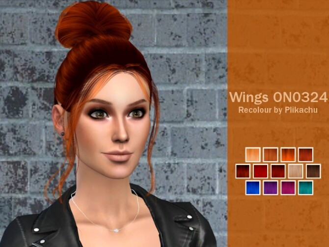 Sims 4 Recolor wingssims ON0324 hair by Plikachu at TSR