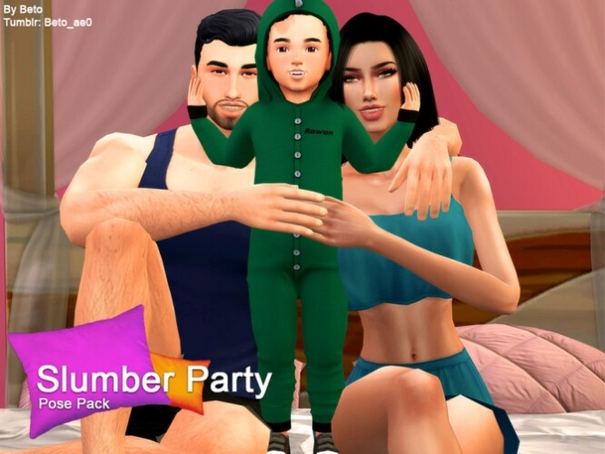Slumber Party Pose Pack by Beto_ae0