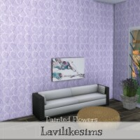 Painted Flowers Wallpaper by lavilikesims