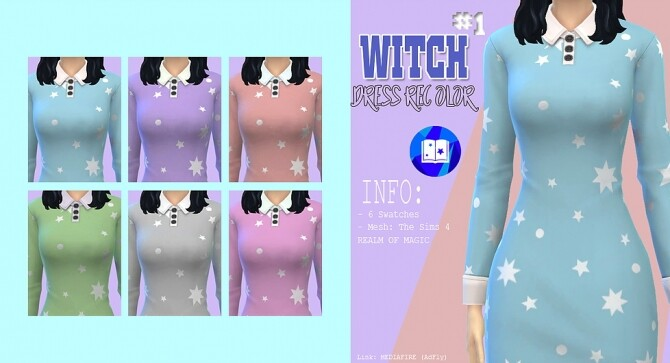 Witch dress recolor