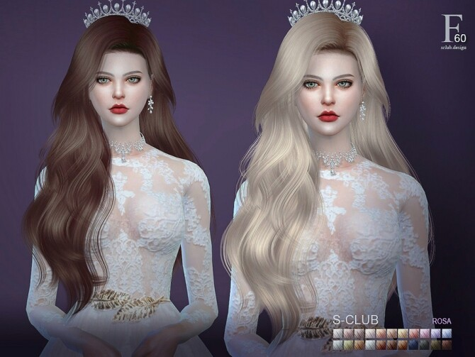 Rosa n60 hair by S Club at TSR image 8619 670x503 Sims 4 Updates