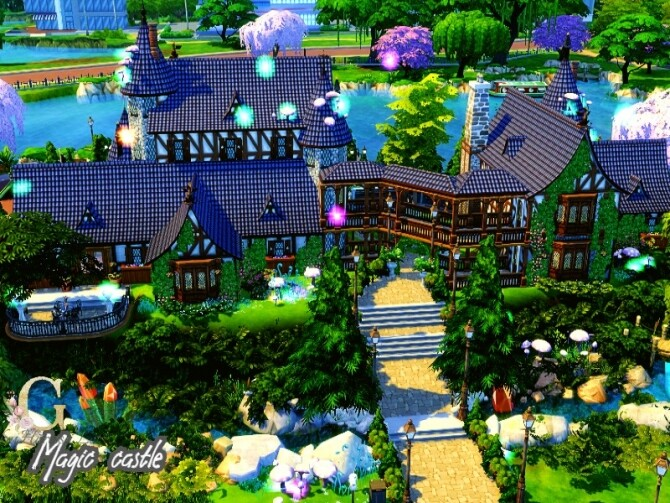 Magic castle by GenkaiHaretsu at TSR image 870 670x503 Sims 4 Updates