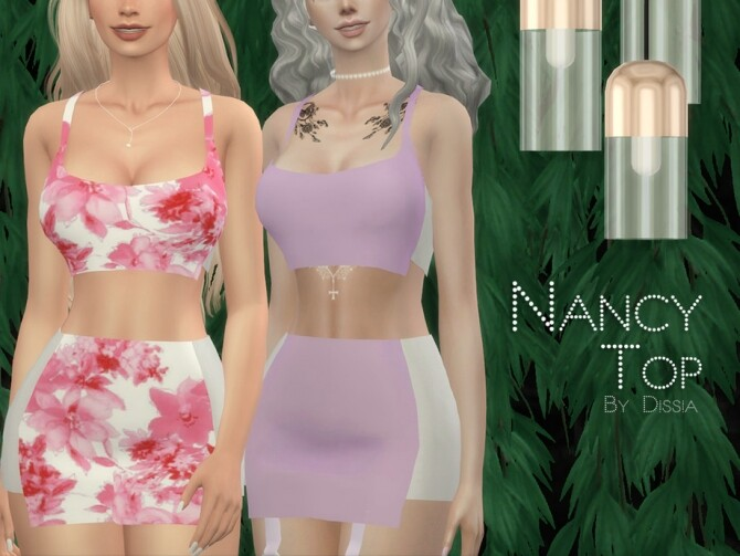 Sims 4 Nancy Top by Dissia at TSR