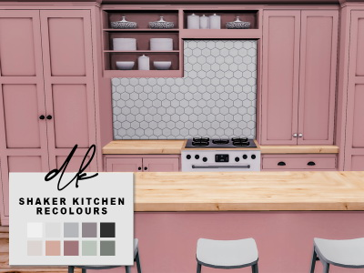 Sims 4 PD's Shaker Kitchen Recolours at DK SIMS