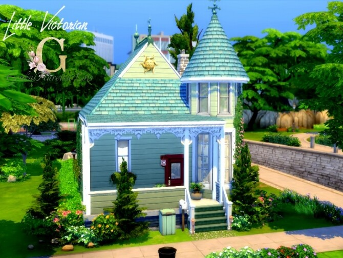 Sims 4 Little Victorian house by GenkaiHaretsu at TSR