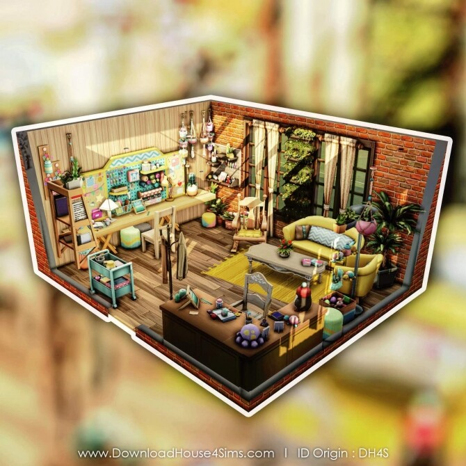 Sims 4 Nanny Knitting Room at DH4S