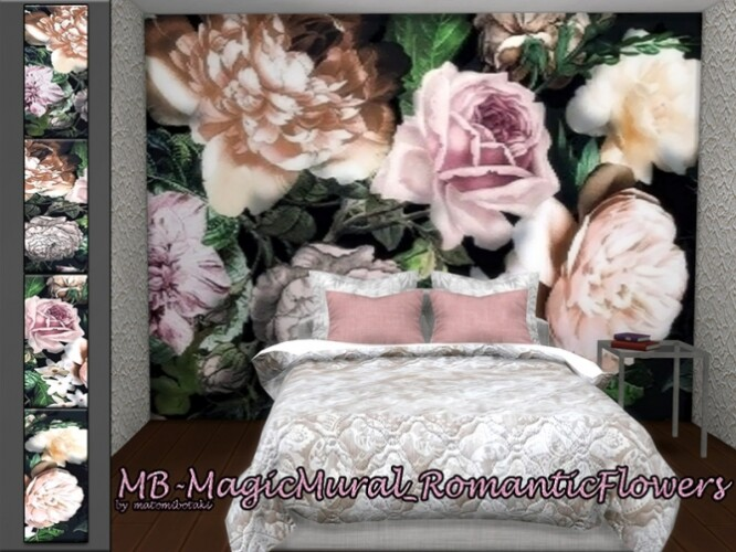 Magic Mural Romantic Flowers by matomibotaki